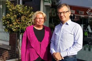 Angela boon en Joost van Tol bij Evita Lokaal