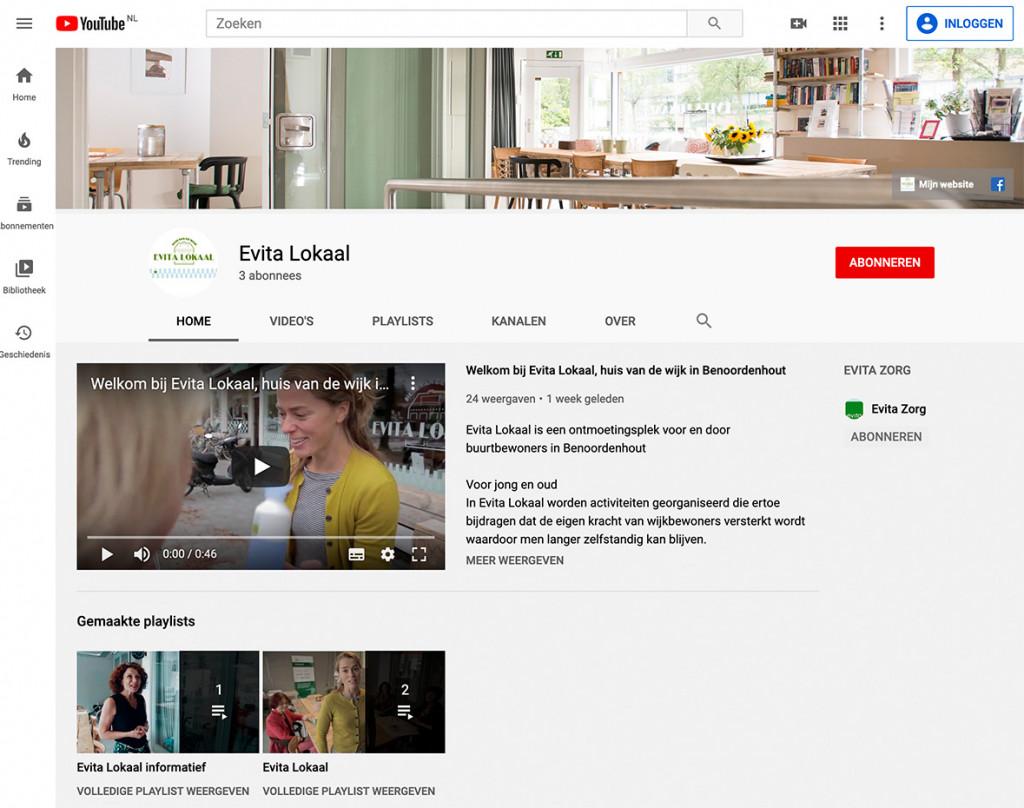 YouTube kanaal Evita Lokaal