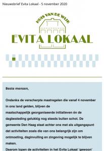 nieuwsbrief evita lokaal 5 november 2020