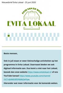 nieuwsbrief evita lokaal 25 juni 2020