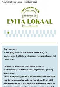 nieuwsbrief evitalokaal 15 oktober 2020