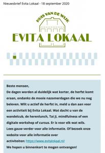 nieuwsbrief 18 september 2020 evitalokaal